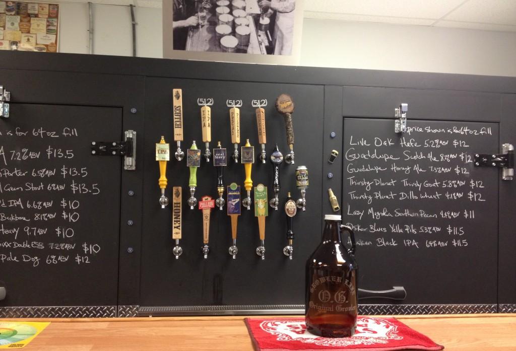 Growler Room Austin Craft Beer Taps