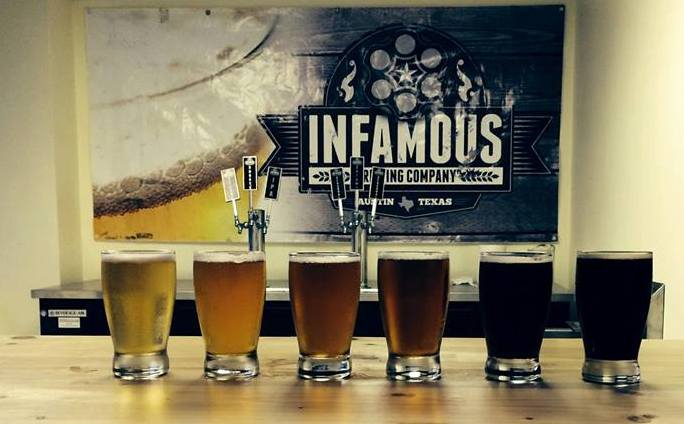 Infamous Brewing Brewery Tour and Tasting Room Craft Beer Austin Texas