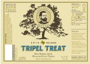 Adelberts Tripel Treat label