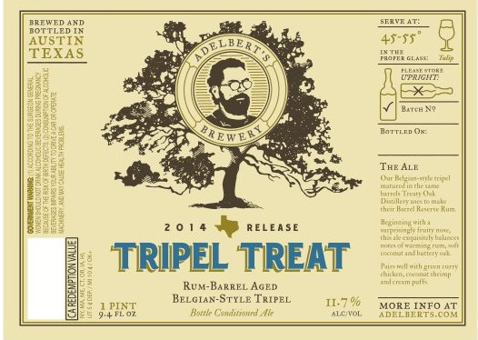 Adelberts Tripel Treat label