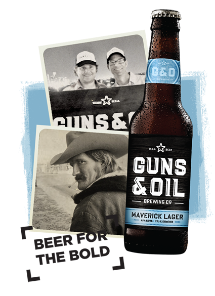Guns and Oil Beer Logo