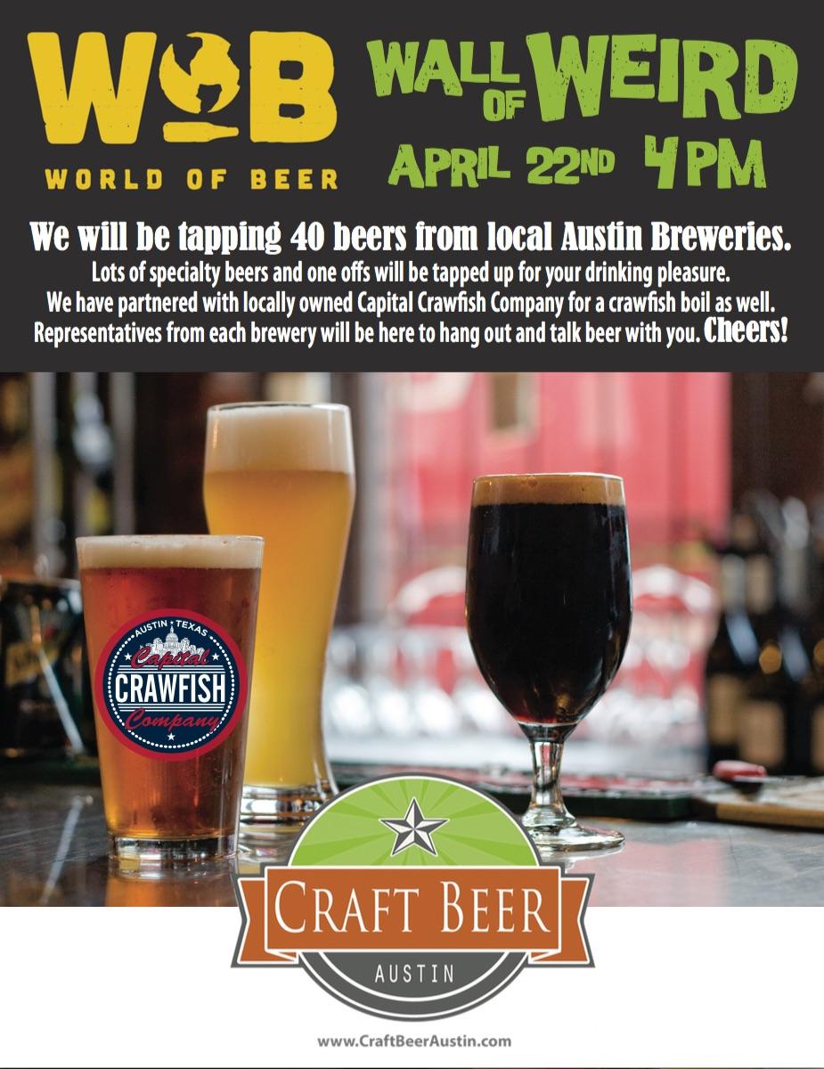 Austin Craft Beer Events for April 21- 26 2015