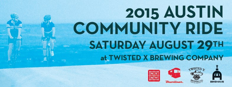 Austin Craft Beer Events for August 25 - 30 2015-Twisted X Community Ride
