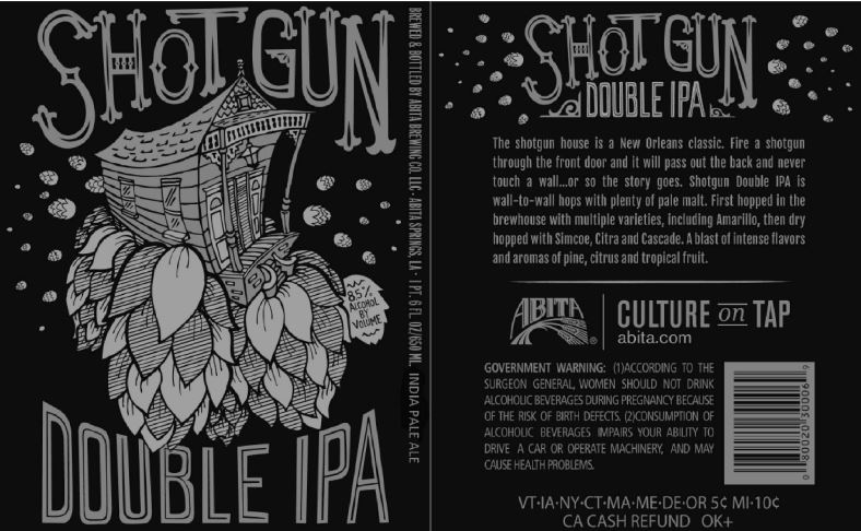 TABC Label and Brewery Approvals January 29 2016-Abita shotgun double ipa