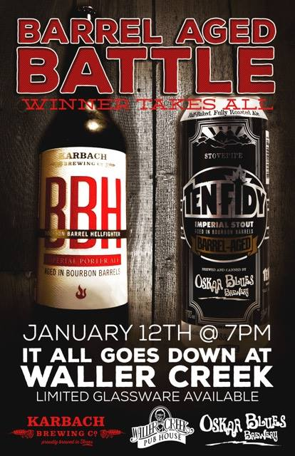 Austin Craft Beer Events Jan 11th to Jan 17th 2016-Battle Aged Battle