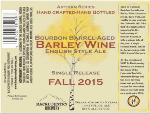 backcountry barrel aged barleywine