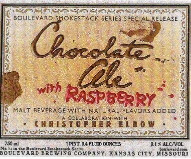 boulevard chocolate ale with raspberries