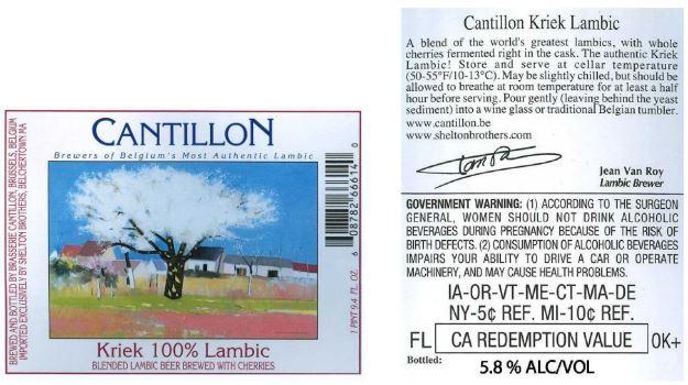 cantillon kriek lambic