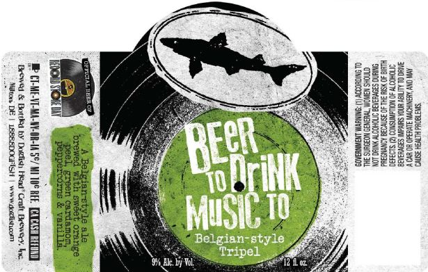 dogfish head music to drink beer to
