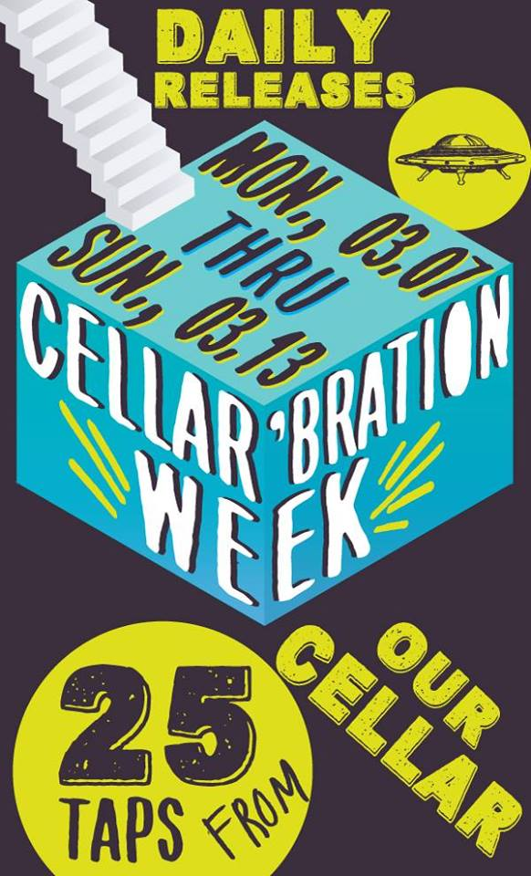 Flying Saucer Cellar' Bration Week Austin Craft Beer Events Mar 7th to Mar 13th 2016
