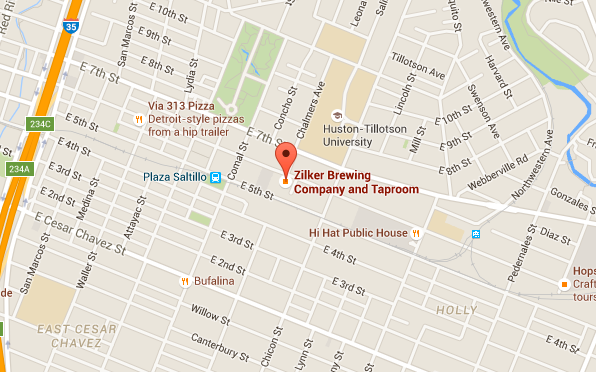 Map for Zilker Brewing Company and Taproom Austin Texas Google Maps