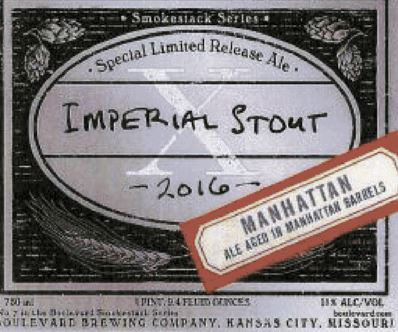boulevard imperial stout manhattan TABC Label and Brewery Approvals July 15 2016