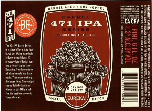 breckenridge 471 barrel aged TABC Label and Brewery Approvals July 1 2016