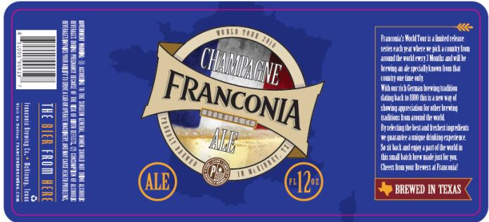 franconia champagne TABC Label and Brewery Approvals July 1 2016