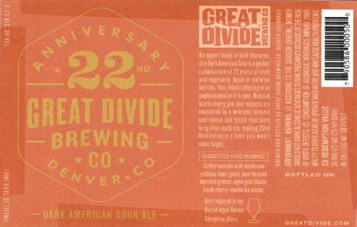 great divide 22nd TABC Label and Brewery Approvals July 1 2016