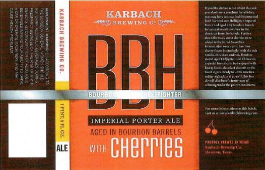 karbach bbh cherries TABC Label and Brewery Approvals July 1 2016