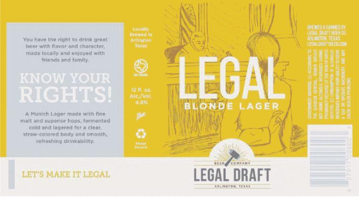 legal draft blonde