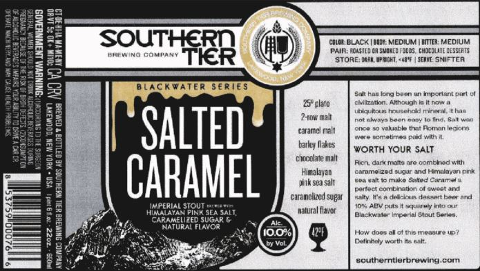 southern tier salted caramel TABC Label and Brewery Approvals July 15 2016