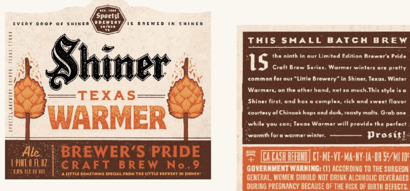 shiner texas warmer