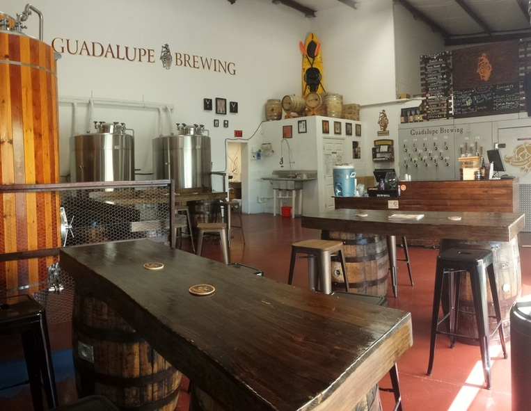 Guadalupe Brewing tasting room