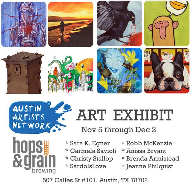 art-exhibit-hops-and-grain Austin Craft Beer Events Nov 7th to 13th 2016