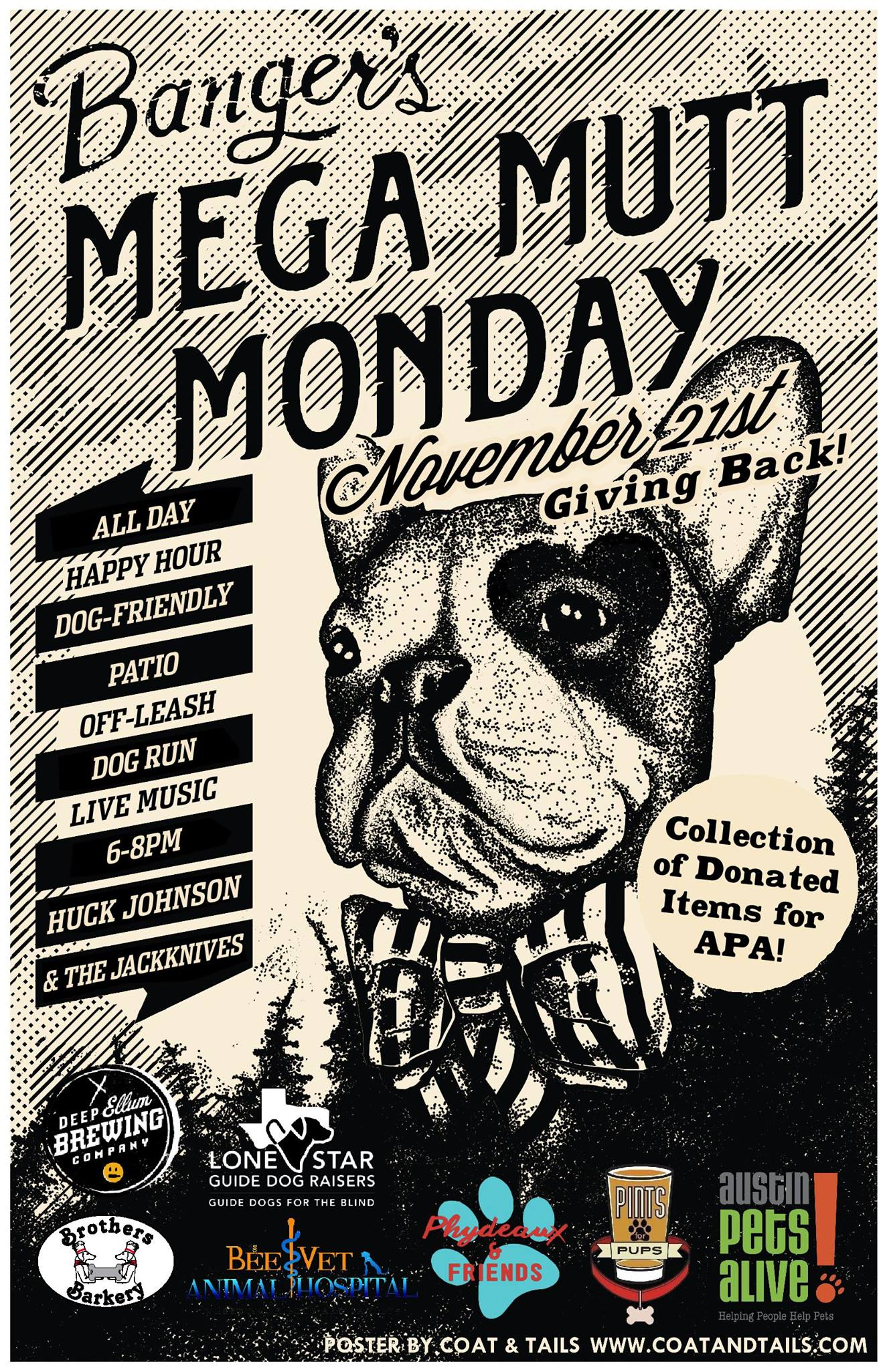 bangers-mega-mutt-monday Austin Craft Beer Events Nov 21st to 27th 2016