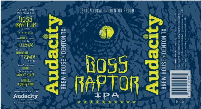 audacity-boss-raptor TABC Label and Brewery Approvals Nov 11th 2016