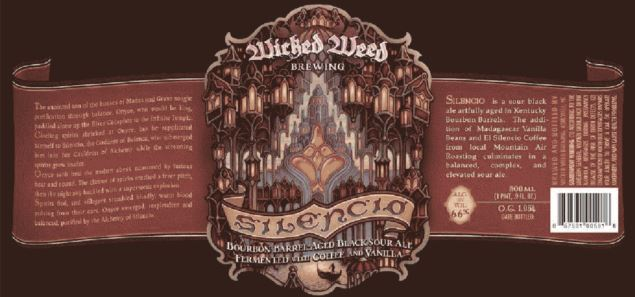 wicked-weed-silencio TABC Label and Brewery Approvals Nov 11th 2016