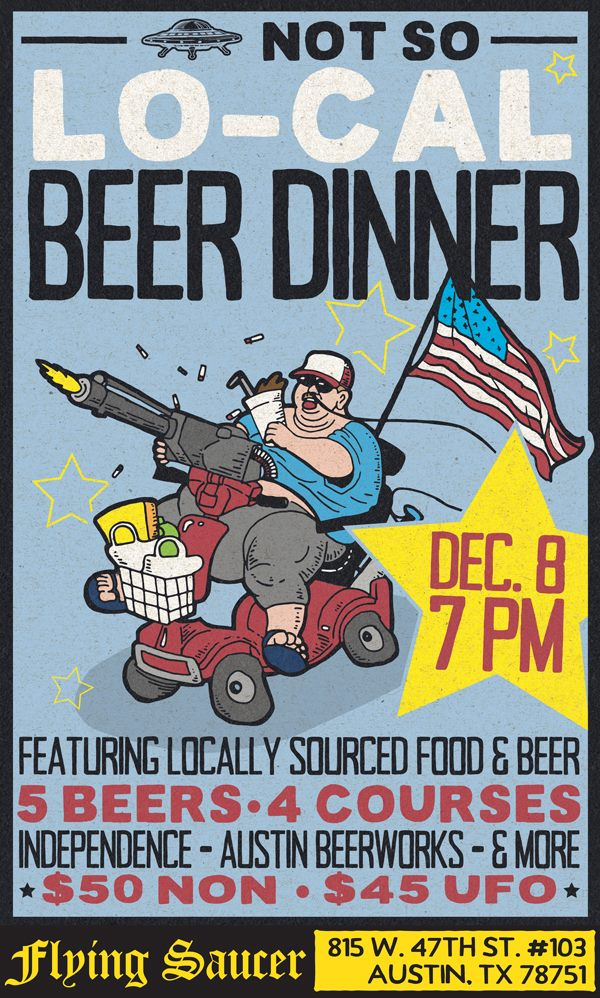 flying-saucer-beer-dinner Austin Craft Beer Events Dec 5th - 11th 2016