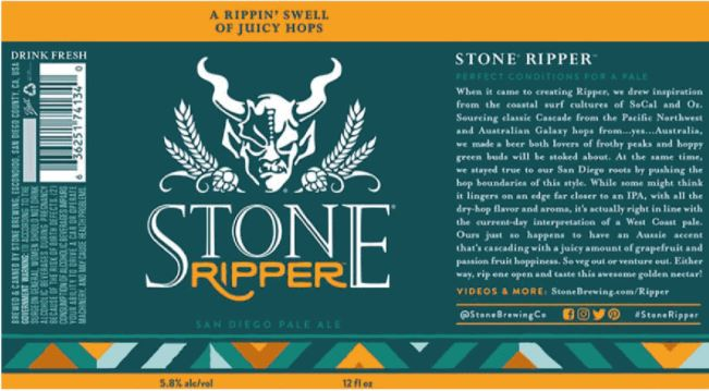 stone-ripper TABC Label and Brewery Approvals Dec 2nd 2016