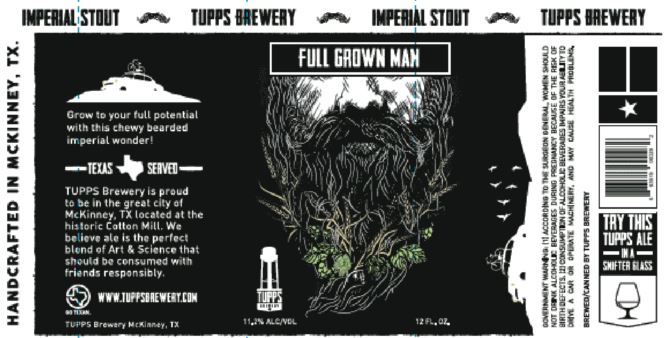 tupps-full-grown-man TABC Label and Brewery Approvals Dec 9th 2016