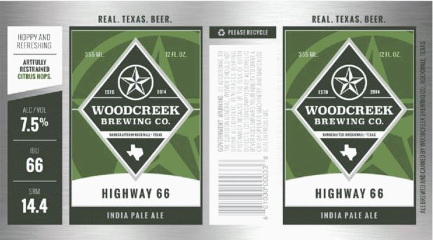 woodcreek-highway-66 TABC Label and Brewery Approvals Dec 9th 2016