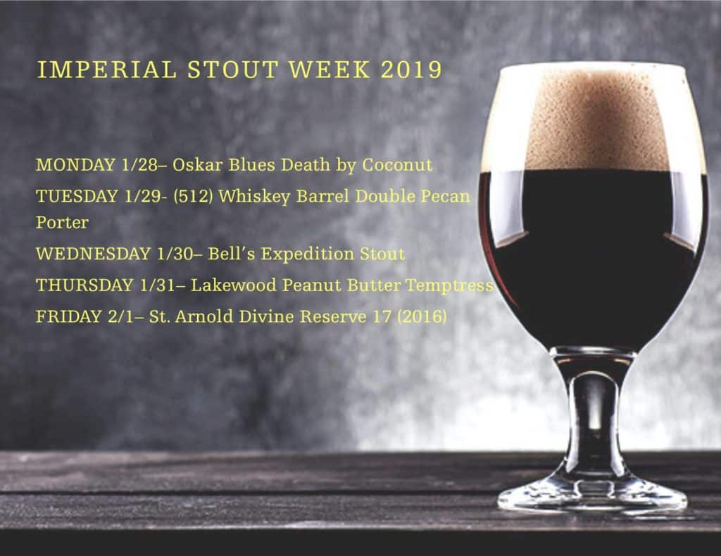 Austin Craft Beer Events Jan 28 - Feb 3 2019
