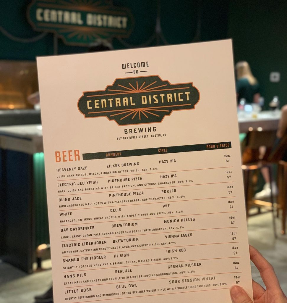 A Visit To Central District Brewing - Austin Texas