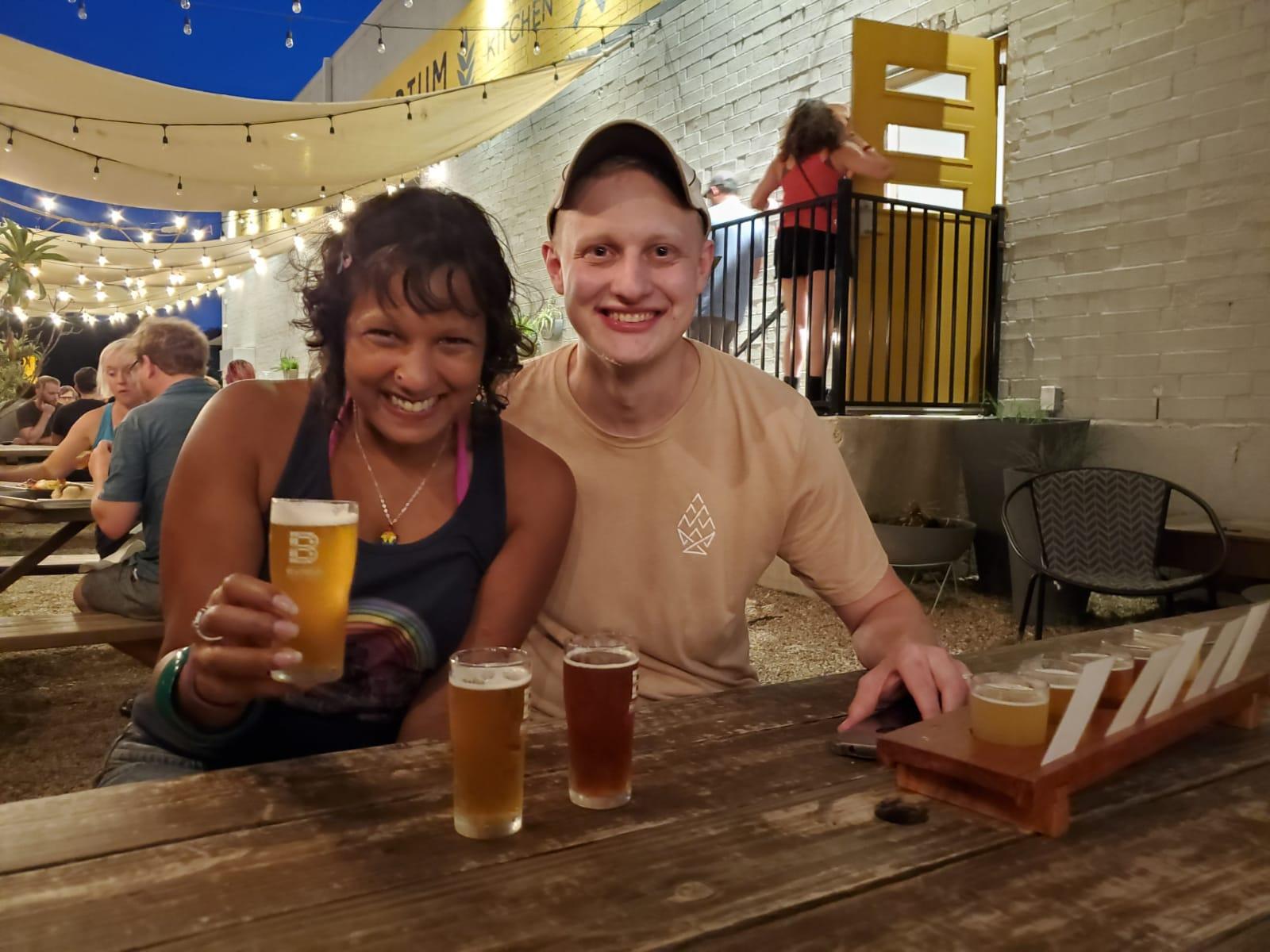 Brewery Travels (Joel Geier) and Craft Beer Amethyst (Ruvani de Silva) at the Brewtorium