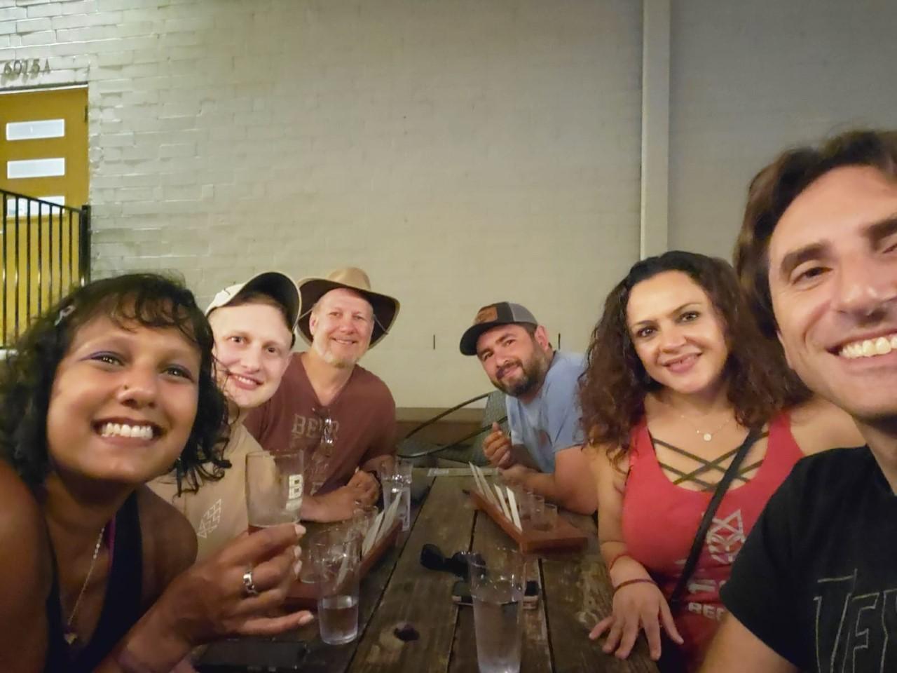 Brewery Travels (Joel Geier) and friends at the Brewtorium