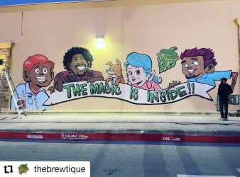 Mural at The Brewtique by @brikslovesyou, photo credit The Brewtique